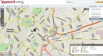 Yahoo Local Maps Language Switch English