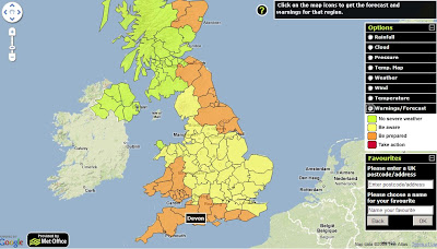 Met Office - Weather Warnings Map title=