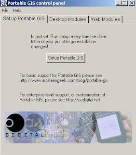 Portable GIS V2 - Control Panel
