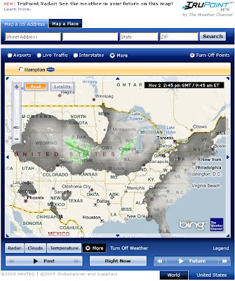Weather.com Cloud and Radar Bing Future Map Beta