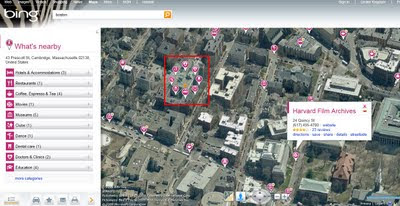 BING MAPS BETA NEARBY CLUSTER MARKERS