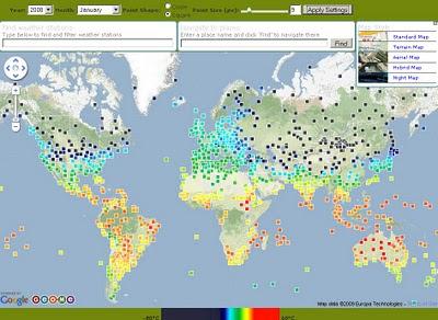 Geo.me Temperature Map