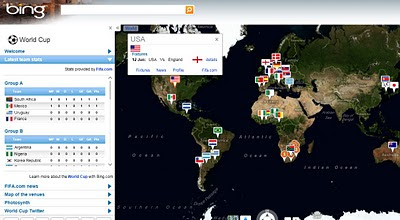 Bing Maps World Cup 2010 App