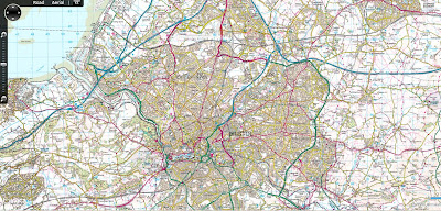 Ordnance Survey 50k Landranger Bing Maps Silverlight