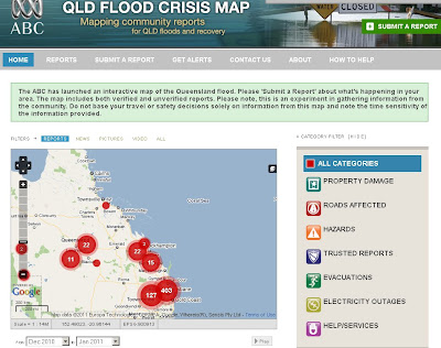 ABC Community Queensland Flood Map