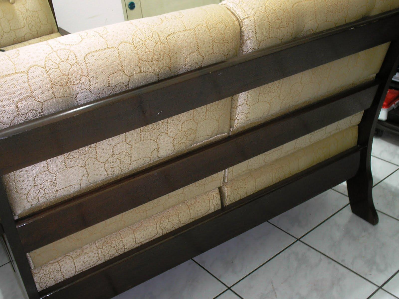 Móveis usados de qualidade: Sofá de madeira dois lugares (conjunto  #887243 1600x1200