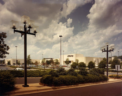 Eastland Mall, Charlotte, North Carolina. Exterior view showing Ivey's,