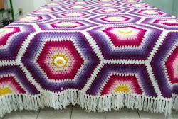 Colcha de crochê de Lã
