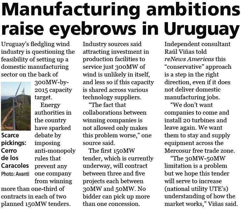 Uruguay 2035 País Renovable: 2010