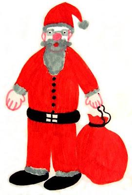 Desenho do Pai Natal