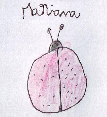 Desenho de uma joaninha