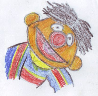 desenho do Egas - drawing of Ernie