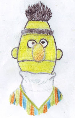 desenho do Becas - drawing of Bert