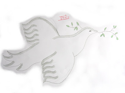 desenho da pomba da paz