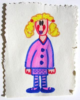 desenho de uma menina