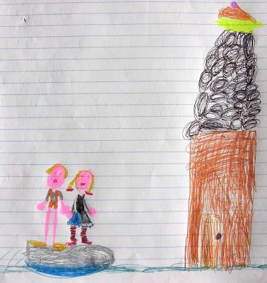 Desenho de Hansel e Gretel