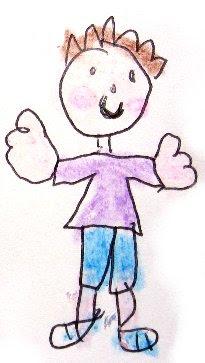 Desenho de um menino