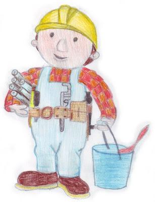 Desenho do Bob o construtor