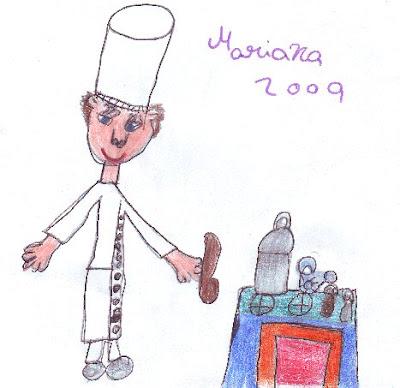 Desenho de um Cozinheiro