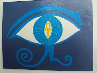 Olho Direito de Horus Azul / Blue Right Eye of Horus