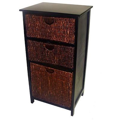 wicker basket drawers. Black Bedroom Furniture Sets. Home Design Ideas