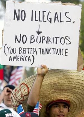 no illegals no burritos