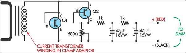 Cheap AC current measurement circuit schematic
