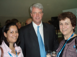 Anjuli Veall, Andrew Lansley MP and Clare Moonan