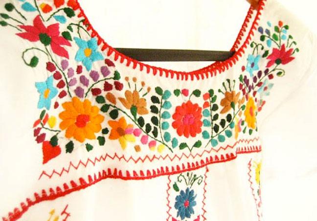 Vestidos Mexicanos Bordados a Mano