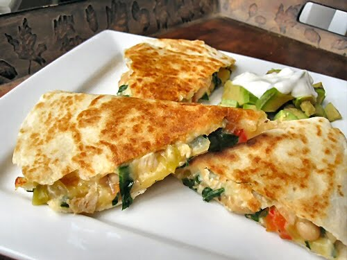 ... Other Side of Fifty: Chicken, Spinach and Cannellini Bean Quesadillas
