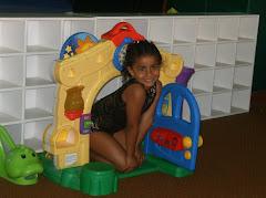 Mi bella en sus clases de gimnasia