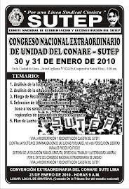 CONGRESO NACIONAL DE UNIDAD DEL CONARE SUTEP