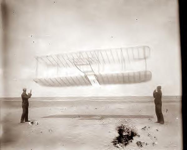 Wright Bros Glider, Kitty Hawk, 1901