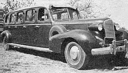 1937 Cadillac 12-passenger Limo-Bus used at Yosemite Nat'l. Park ~