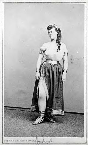 Pauline in her stage costume, 1866