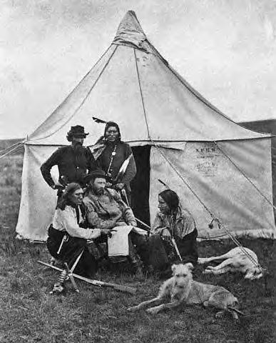 Custer with Indians, Montana Territory, 1871