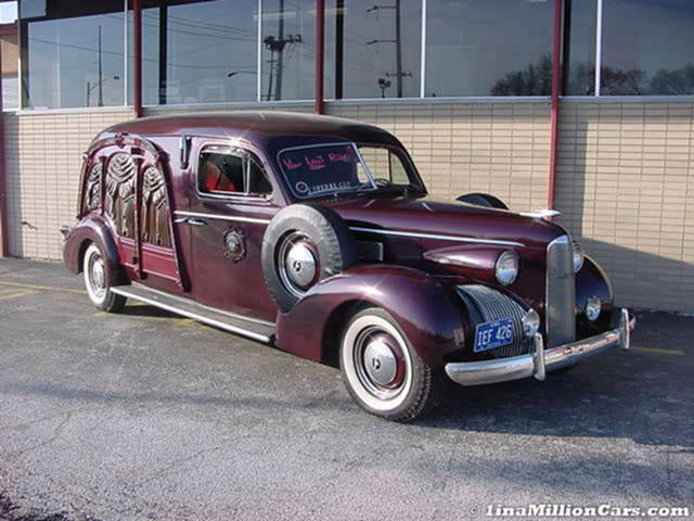 1941 Packard Carved Panel Hearse ~