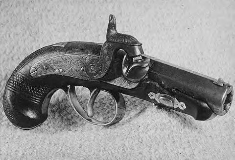 Booth's Darringer. This is the gun that fired the fatal shot into Lincoln's head