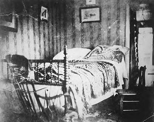 Lincoln's Deathbed. Photo taken the day after his death