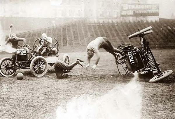 Auto Polo Accident. Photo circa 1918