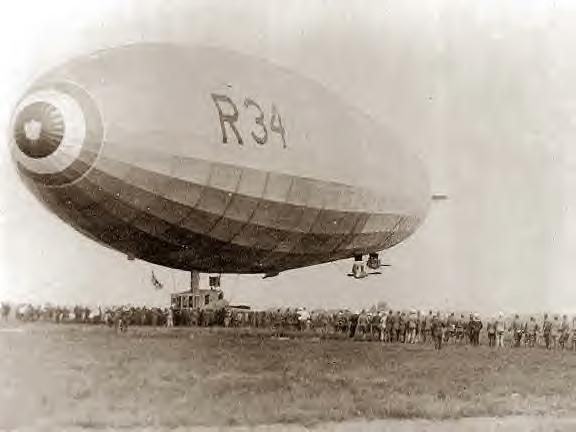 Landing of British R34 at Mineola, Long Island, NY 1919