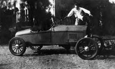 Henry Gunning & his car, 1928
