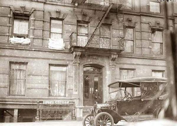Old Model T in front of 218 E. 67th St.