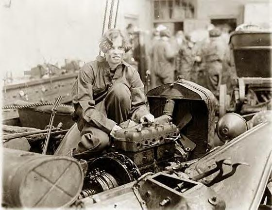 Grace Wagner, Central High Auto Mechanics class. Washington, DC 1927