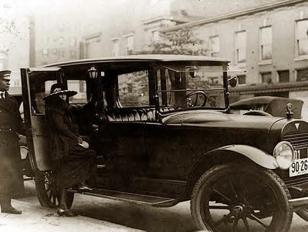 Woman & Car with chauffeur, 1919, Washington DC
