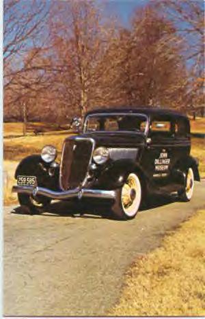 Dillinger's stolen 1934 Ford sedan