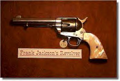 Western outlaw, Frank Jackson's Colt .45 revolver