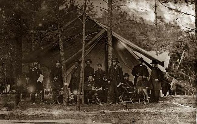 1864: General Grant at HQ, Cold Harbor, Va.