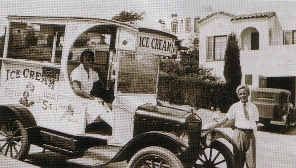 Amelia Kapin sold ice cream with son, Herbert. Circa 1923