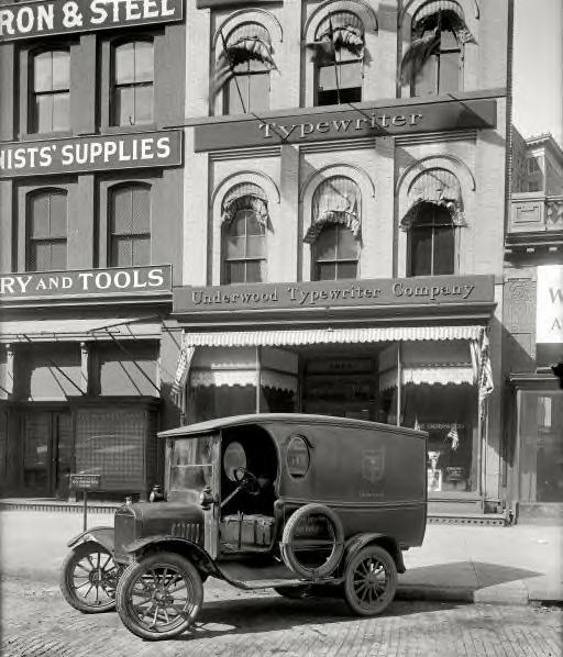 Washington, D.C., 1919. Underwood Typewriter Co. truck